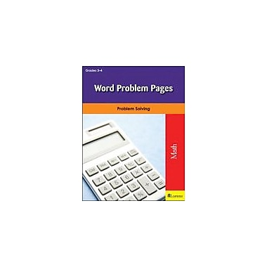 Milliken Publishing Word Problem Pages Math Workbook, Grade 3 - Grade 4 [eBook]