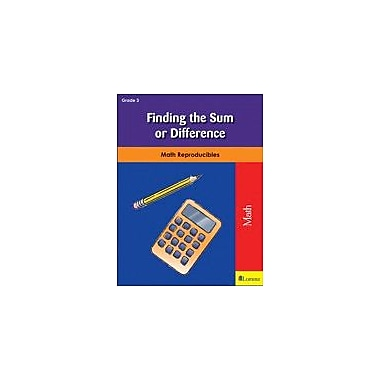 Milliken Publishing Finding the Sum Or Difference Math Workbook, Grade 3 [eBook]