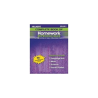 Milliken Publishing Milliken's Complete Book of Homework Reproducibles: Grade 1 Cross-Curricular Workbook, Grade 1 [eBook]