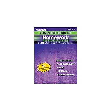 Milliken Publishing Milliken's Complete Book of Homework Reproducibles: Grade 4 Cross-Curricular Workbook, Grade 4 [eBook]