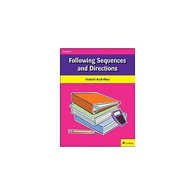 Milliken Publishing Following Sequences and Directions Language Arts Workbook, Kindergarten [eBook]