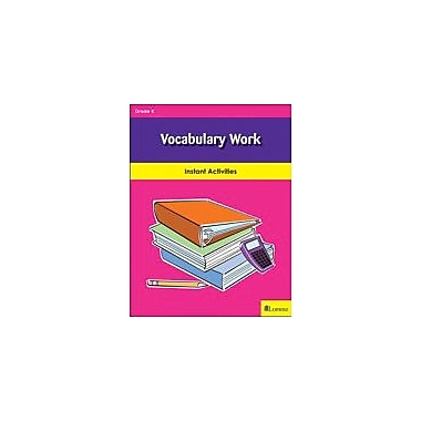 Milliken Publishing Vocabulary Work Reading & Writing Workbook, Kindergarten [eBook]