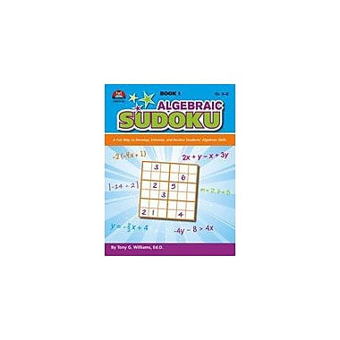 Milliken Publishing Algebraic Sudoku: Book 1 Math Workbook, Grade 6 - Grade 8 [Enhanced eBook]