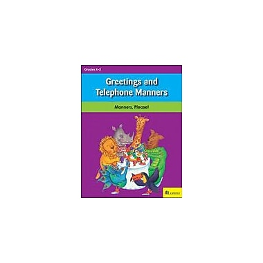 Teaching and Learning Company Greetings and Telephone Manners Character & Social Skills Workbook, Kindergarten - Grade 3 [eBook]