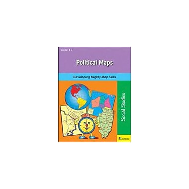 Teaching and Learning Company Political Maps Social Studies Workbook, Grade 3 - Grade 6 [eBook]