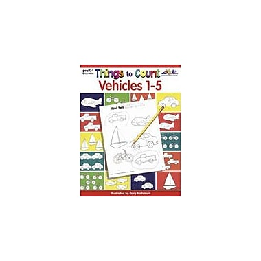 Teaching and Learning Company Things to Count: Vehicles 1-5 Math Workbook, Preschool - Grade 1 [Enhanced eBook]