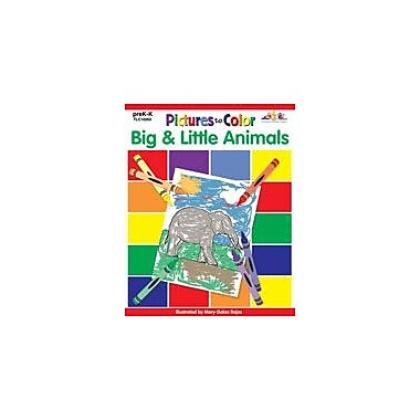 Teaching and Learning Company Pictures to Color: Big & Little Animals Workbook, Preschool - Kindergarten [Enhanced eBook]