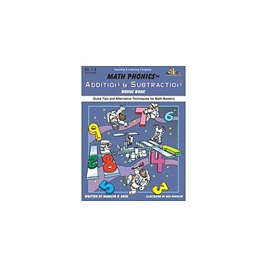 Teaching and Learning Company Math Phonics Addition & Subtraction Bonus Book Math Workbook, Grade 1 - Grade 3 [Enhanced eBook]