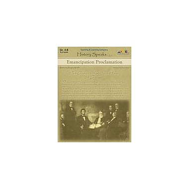 Teaching and Learning Company Emancipation Proclamation History Workbook, Grade 4 - Grade 8 [Enhanced eBook]