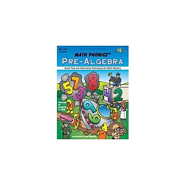 Teaching and Learning Company Math Phonics Pre-Algebra Math Workbook, Grade 3 - Grade 6 [Enhanced eBook]