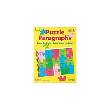 Teaching and Learning Company Puzzle Paragraphs Language Arts Workbook, Grade 4 - Grade 8 [eBook]