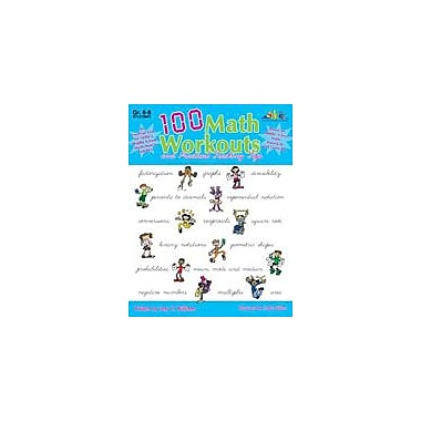 Teaching and Learning Company 100 Math Workouts Math Workbook, Grade 6 - Grade 8 [Enhanced eBook]
