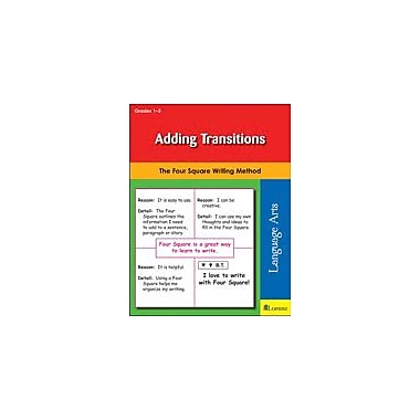 Teaching and Learning Company Adding Transitions Reading & Writing Workbook, Grade 1 - Grade 3 [eBook]