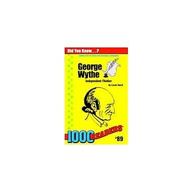 Gallopade International George Wythe: Independent Thinker History Workbook, Kindergarten - Grade 4 [eBook]