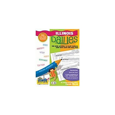 Gallopade International Illinois Dailies: 180 Daily Activities For Kids Social Studies Workbook, Grade 1 - Grade 8 [eBook]