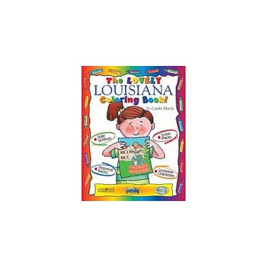 Gallopade International The Lovely Louisiana Coloring Book! Social Studies Workbook, Kindergarten - Grade 2 [eBook]