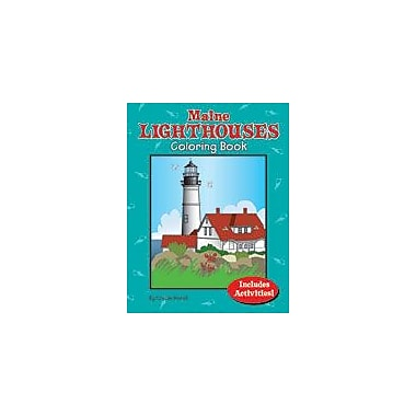 Gallopade International Maine Lighthouses Coloring Book Social Studies Workbook, Kindergarten - Grade 5 [eBook]