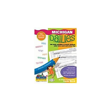 Gallopade International Michigan Dailies: 180 Daily Activities For Kids Social Studies Workbook, Grade 1 - Grade 8 [eBook]