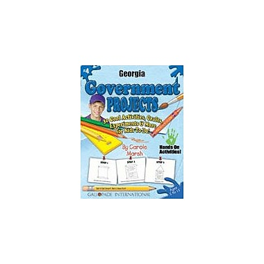 Gallopade International Georgia Government Projects Social Studies Workbook, Kindergarten - Grade 5 [eBook]