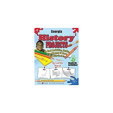 Gallopade International Georgia History Projects Social Studies Workbook, Kindergarten - Grade 5 [eBook]