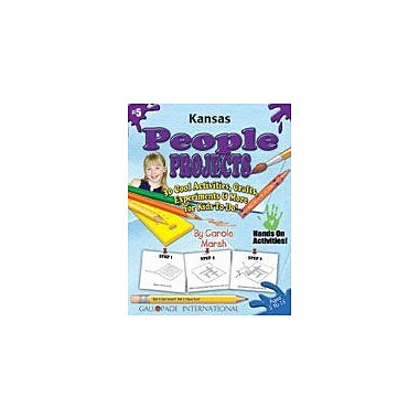 Gallopade International Kansas People Projects Social Studies Workbook, Kindergarten - Grade 5 [eBook]