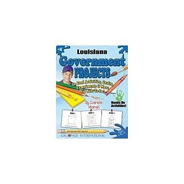 Gallopade International Louisiana Government Projects Social Studies Workbook, Kindergarten - Grade 5 [eBook]