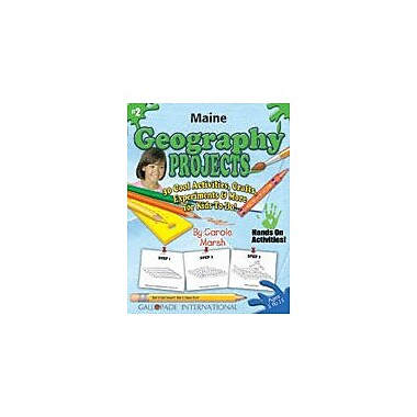 Gallopade International Maine Geography Projects Social Studies Workbook, Kindergarten - Grade 5 [eBook]