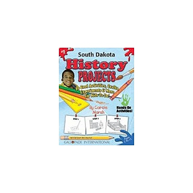 Gallopade International South Dakota History Projects Social Studies Workbook, Kindergarten - Grade 5 [eBook]