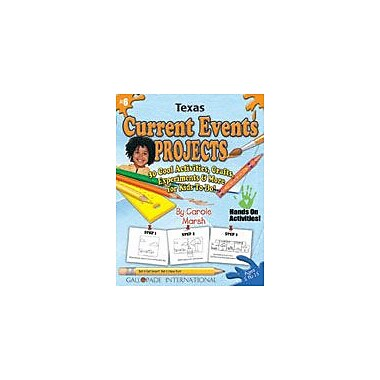 Gallopade International Texas Current Events Projects Social Studies Workbook, Kindergarten - Grade 8 [eBook]