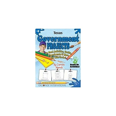 Gallopade International Texas Government Projects Social Studies Workbook, Kindergarten - Grade 5 [eBook]