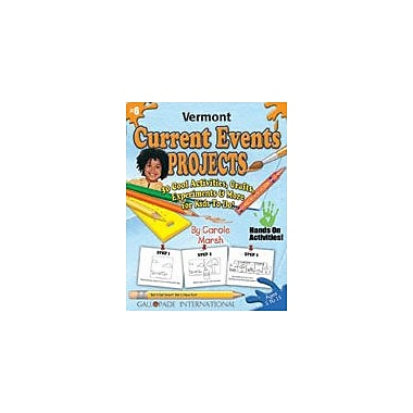 Gallopade International Vermont Current Events Projects Social Studies Workbook, Kindergarten - Grade 8 [eBook]
