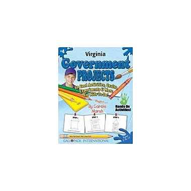 Gallopade International Virginia Government Projects Social Studies Workbook, Kindergarten - Grade 5 [eBook]