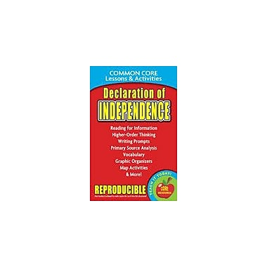 Gallopade International Declaration of Independence Common Core Lessons and Activities Workbook, Grade 3 - Grade 8 [eBook]