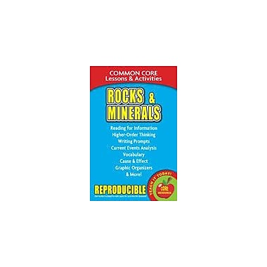 Gallopade International Rocks and Minerals Common Core Lessons and Activities Science Workbook, Grade 3 - Grade 8 [eBook]