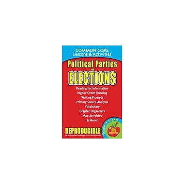 Gallopade International Political Parties & Elections, Common Core Lessons & Activities Workbook, Grade 3 - Grade 8 [eBook]