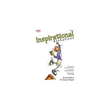 Kagan Publishing Inspirational Quotations Problem Solving Workbook, Kindergarten - Grade 12 [eBook]