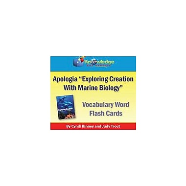 Knowledge Box Central Apologia Exploring Creation With Marine Biology Vocabulary Word Flash Cards Workbook [eBook]
