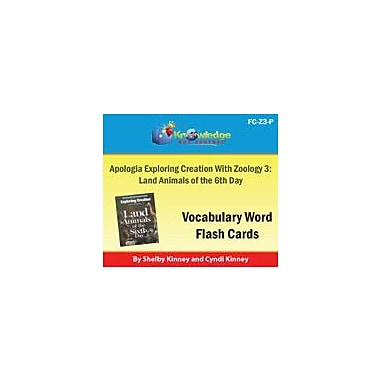 Knowledge Box Central Apologia Exploring Creation With Zoology 3: Land Animals of the 6th Day Vocabulary Flash Cards [eBook]