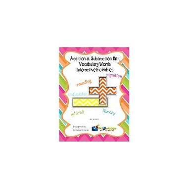 Knowledge Box Central Addition & Subtraction Unit Vocabulary Words Interactive Foldable Booklets Workbook [eBook]