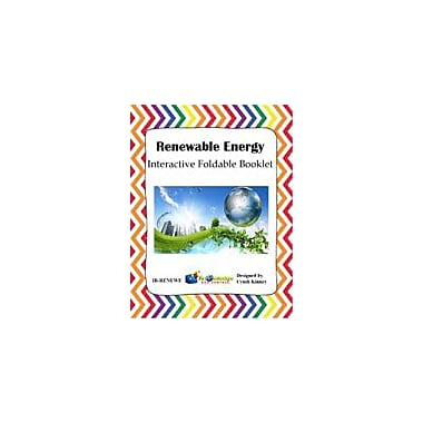 Knowledge Box Central Renewable Energy Interactive Foldable Booklet Science Workbook, Kindergarten - Grade 6 [eBook]