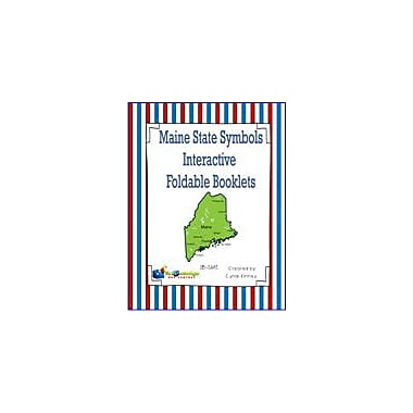 Knowledge Box Central Maine State Symbols Interactive Foldable Booklets Geography Workbook, Kindergarten - Grade 8 [eBook]