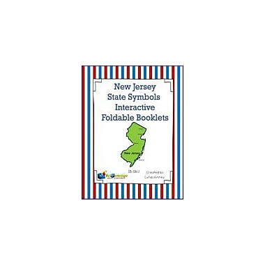 Knowledge Box Central New Jersey State Symbols Interactive Foldable Booklets Geography Workbook, Kindergarten - Grade 8 [eBook]