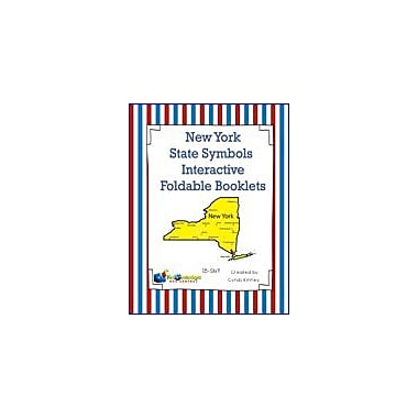 Knowledge Box Central New York State Symbols Interactive Foldable Booklets Geography Workbook, Kindergarten - Grade 8 [eBook]