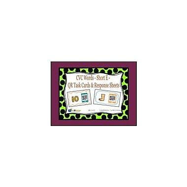 Knowledge Box Central CVC Words, Short E, QR Code Task Cards & Response Sheets Workbook, Kindergarten - Grade 2 [eBook]