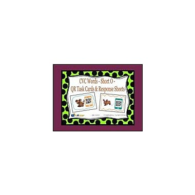 Knowledge Box Central CVC Words, Short O, QR Code Task Cards & Response Sheets Workbook, Kindergarten - Grade 2 [eBook]