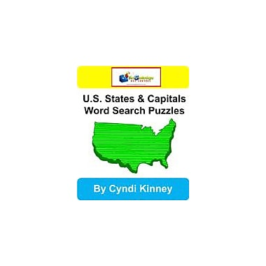 Knowledge Box Central U.S. States & Capitals Word Search Puzzles Puzzles Workbook, Kindergarten - Grade 8 [eBook]