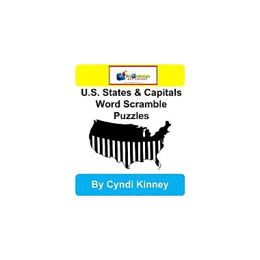 Knowledge Box Central U.S. States & Capitals Word Scramble Puzzles Puzzles Workbook, Kindergarten - Grade 8 [eBook]