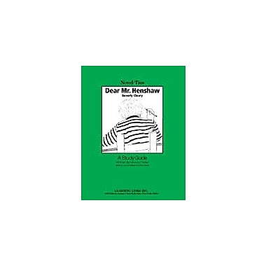 Learning Links/Novel-Ties Dear Mr. Henshaw: A Novel-Ties Study Guide Language Arts Workbook, Grade 3 - Grade 5 [eBook]