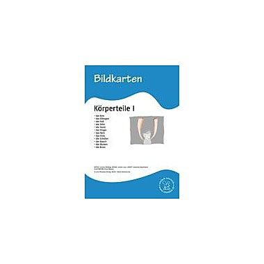 Miamaus Verlag Publishing German Flashcards: Parts of the Body I Language Arts Workbook, Grade 1 - Grade 6 [eBook]