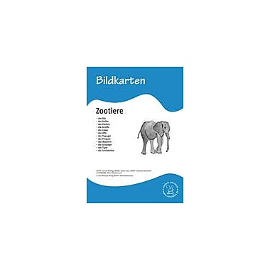 Miamaus Verlag Publishing German Flashcards: Animals In the Zoo Language Arts Workbook, Grade 1 - Grade 6 [eBook]